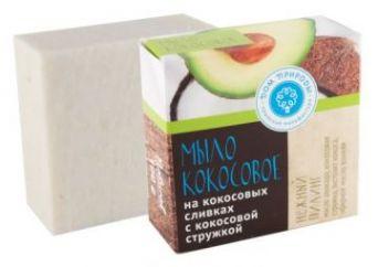 """Мыло на кокосовых сливках с кокосовой стружкой """"Нежный пилинг"""""""